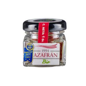 Spanischer Bio Safran 1g Glas