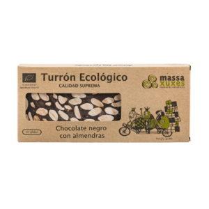Bio Turrón Chocolate negro 200g