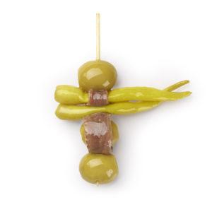 Spieße mit Anchovis – Anchoa Oliven – Pfefferoni 1900/1200g
